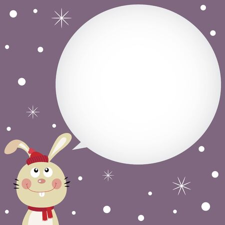 Rabbit speaking with a speech bubble Vector
