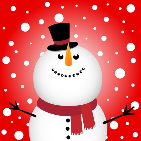 snow man: Happy Christmas snowman Illustration