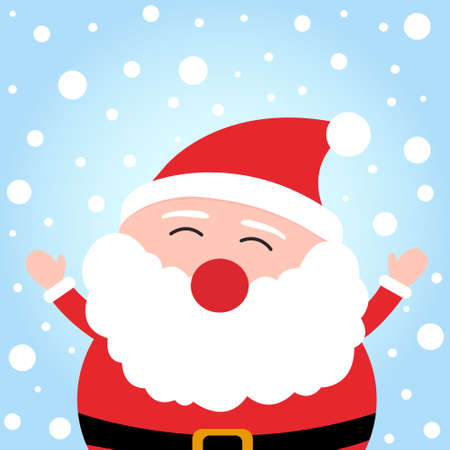 x mas: Happy christmas Santa Claus on snowy background