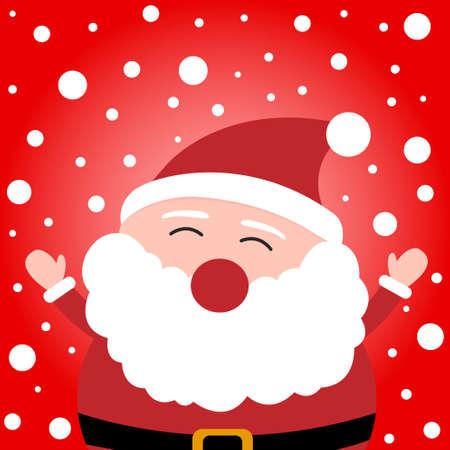 jugglery: Happy christmas Santa Claus on snowy background