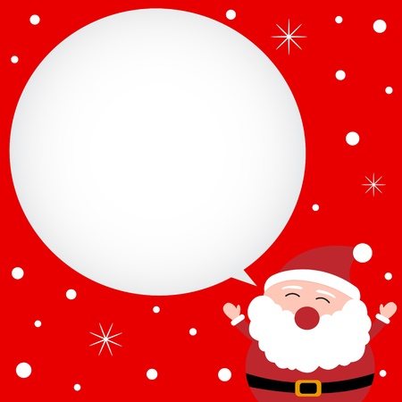 santa clause hat: Christmas card with happy Santa Claus