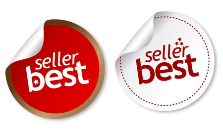 Best seller stickers Stock Vector - 11877360