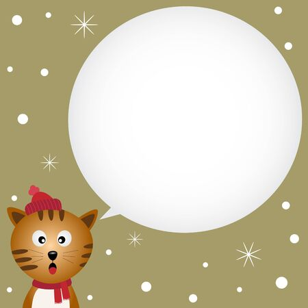 Cat speaking with a speech bubble Vector