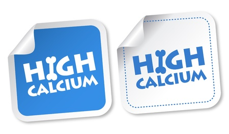 High calcium stickers Illustration