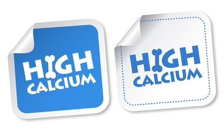 Pegatinas altos de calcio Ilustración de vector