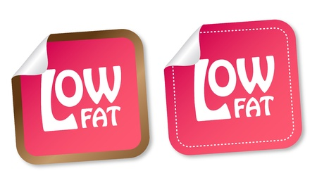 low fat: Low fat stickers Illustration