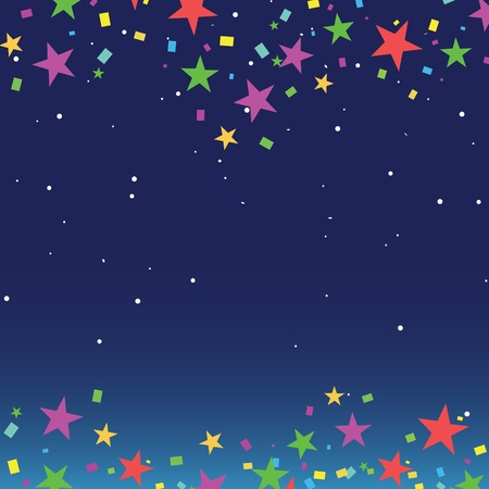 Nights sky with stars and dark space view Stock Vector - 11877374