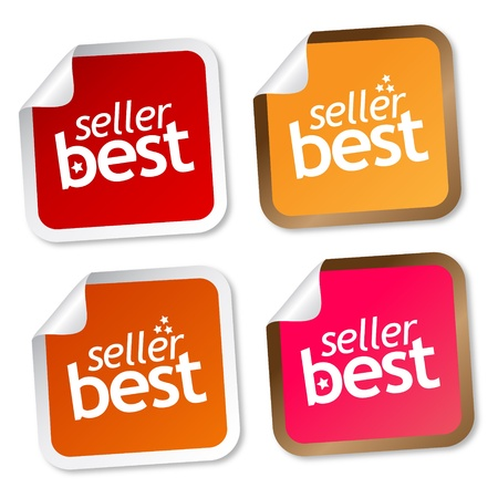 Best seller stickers Stock Illustratie