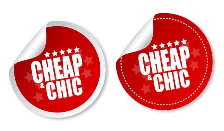 cheap: Cheap & Chic stickers