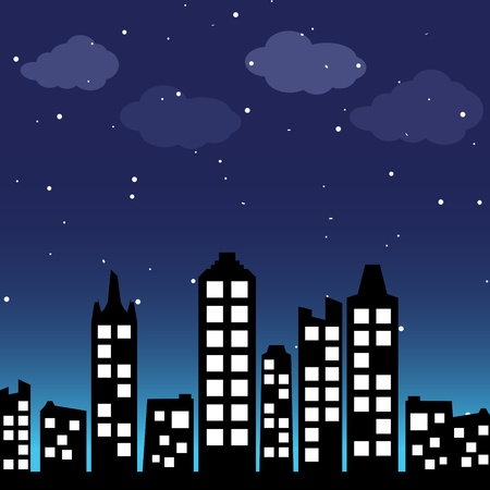 Cityscape background Stock Vector - 12482608