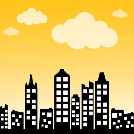 cityscape silhouette: Cityscape background