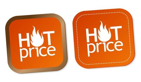 Hot price stickers Stock Vector - 12482616