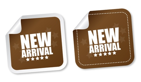 accent: New arrival stickers