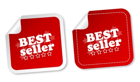 Best seller stickers Stock Vector - 12817262