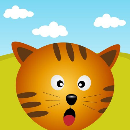 Cat in the forest Stock Vector - 12816734