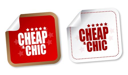 branded: Cheap and Chic stickers Illustration