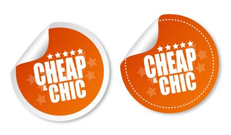 Cheap and Chic stickers Stock Vector - 12817289