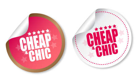 cheap: Cheap and Chic stickers Illustration