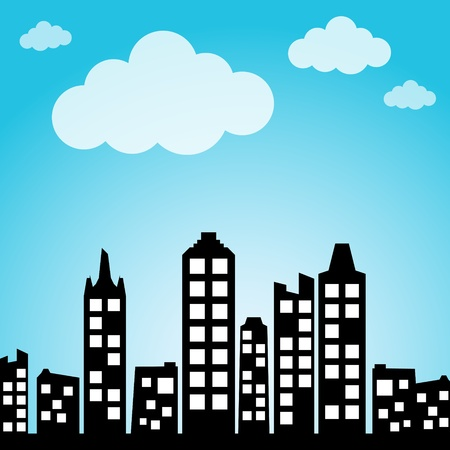 high rise buildings: Cityscape background