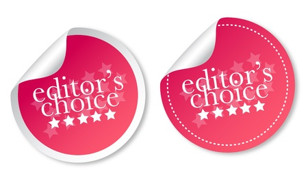 Editors choice stickers Stock Vector - 12817297