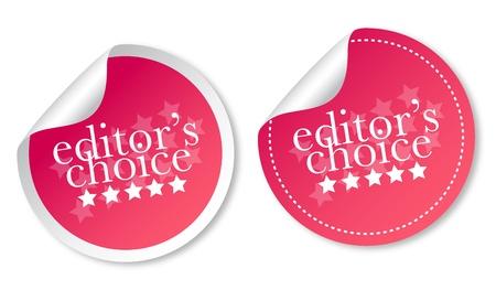 Editors choice stickers Stock Vector - 12817297
