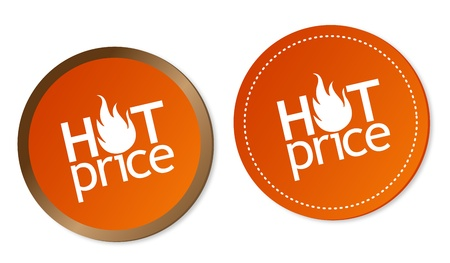 Hot price stickers Stock Vector - 12817248