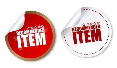 recommended: Item recommended stickers Illustration