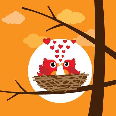Birds in love Stock Vector - 12816741