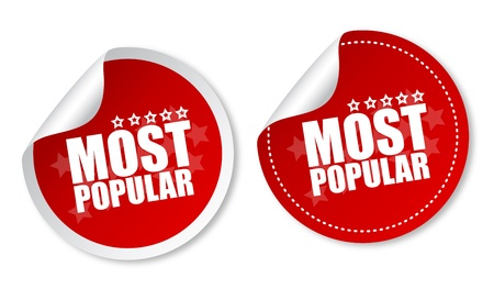 Most popular stickers Illustration
