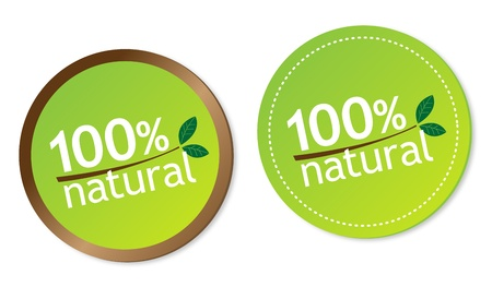 100  natural stickers Vector