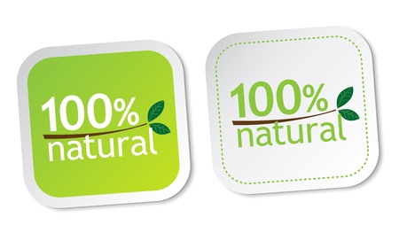 100  natural stickers Stock Vector - 12817247