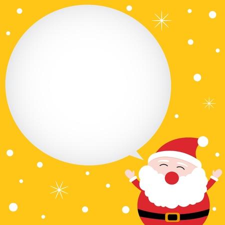 claus: Tarjeta de Navidad con Pap� Noel feliz Vectores