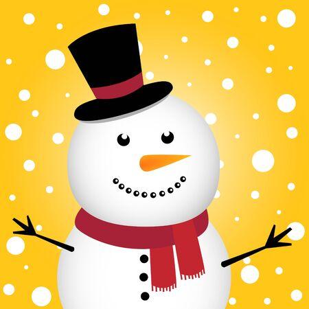 Happy Christmas snowman Illustration