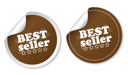 Best seller stickers Stock Vector - 13000135