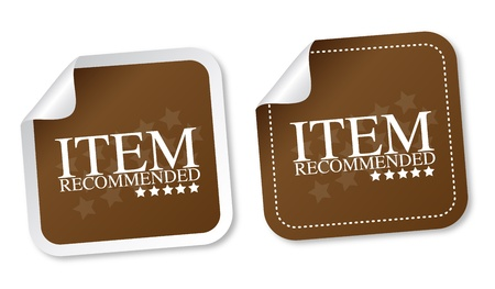 Item recommended stickers Vector