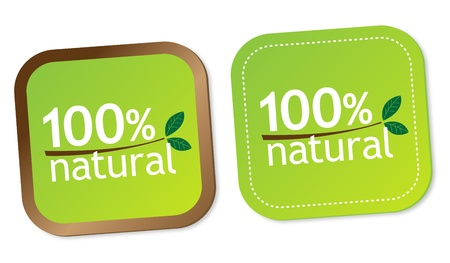 100  natural stickers Stock Vector - 13000259