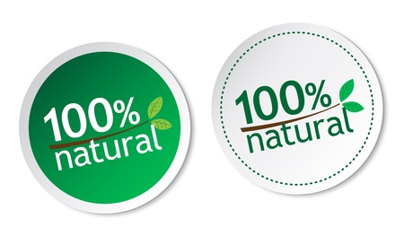 100  natural stickers