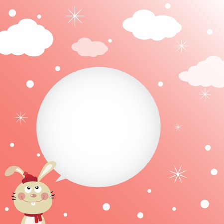 Rabbit speaking with a speech bubble Stock Vector - 13000226