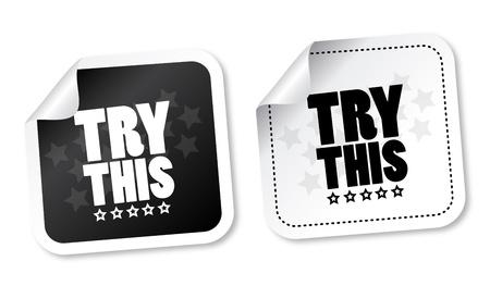 essayer: Essayez ces stickers