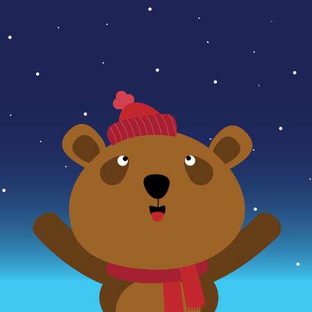 osos de peluche: Oso pardo en el cielo nocturno