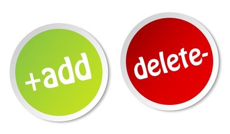 Add and Delete stickers