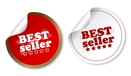 business products: Best seller stickers Illustration