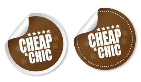 Cheap   Chic stickers Vector