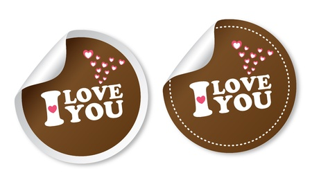 dating and romance: I love you stickers