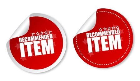 Item recommended stickers Illustration