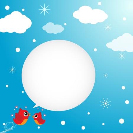 the first love: Aves en el amor volando en el cielo Vectores