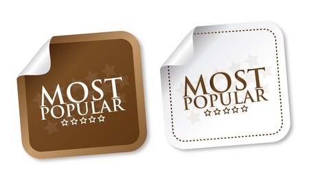 Most popular stickers Stock Vector - 13737661