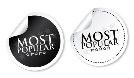 Most popular stickers Stock Vector - 13737660