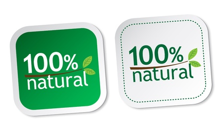 100  natural stickers Stock Vector - 13737263