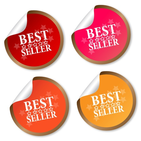 buy now: Best seller stickers Illustration